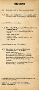 Hlboké, otvorenie novej expozície, program, 27.9.2015