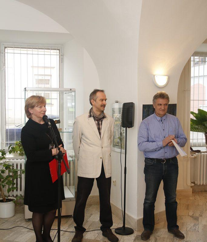 Viera Drahošová, riaditeľka Záhorského múzea v Skalici, Ladislav Csurma a Ján Hladík. Foto: Róbert Svíba