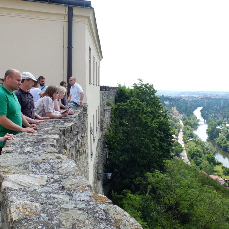Výhľad zo Znojemského hradu. Foto: Eva Svíbová