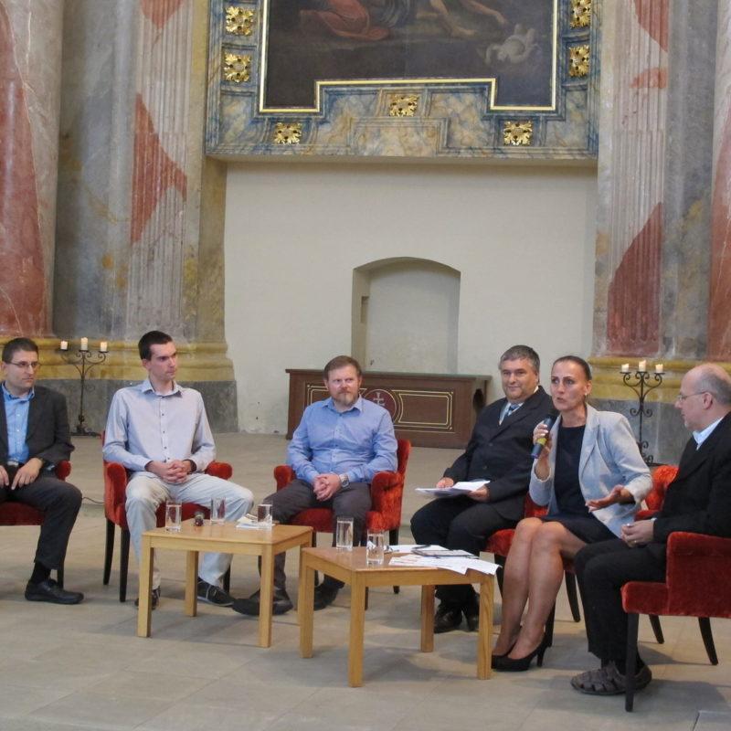 Podujatie moderovala Jana Koutná, vedúca oddelenia kultúry Mesta Skalica. Foto: Richard Drška