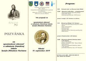 Slávnosť Hlboké 17.9.2017 pozvánka